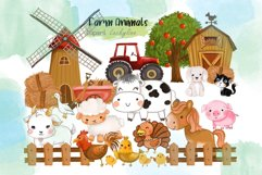 Farm Animals clipart. Product Image 1