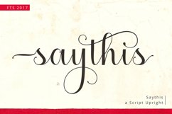 Saythis Script Upright Product Image 1