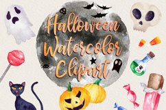 Halloween Watercolor Clip Art Pack! With SVG/Vector Versions Product Image 1