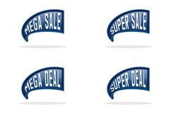 Collection of sales label design Product Image 1