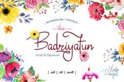 Badiryatun Script Font Product Image 1