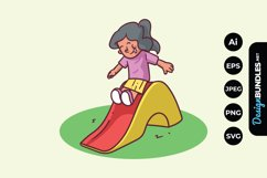 Little Girl Playing at the Park Product Image 1