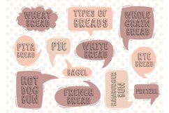Set text types of breads Product Image 1