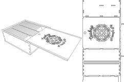 Tea Box-Laser cutting file Product Image 3