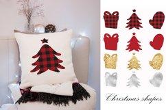 Buffalo plaid Christmas, shapes, sublimations Product Image 3