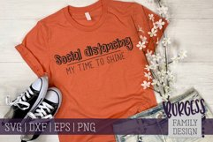 Social distancing - my time to shine II | Cuttable Product Image 1