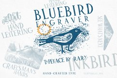 Bluebird engraver Font | An artisan hand-made stamp type. Product Image 2