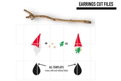 Gnome Chrismtas Earrings Svg / Earrings Template Product Image 2