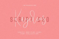 Kaydens Script Font Collection Product Image 1