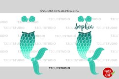 Mermaid Tail SVG Mermaid Monogram SVG, Fish Mermaid ,Mermaid Monogram Svg, Files for Silhouette Cameo or Cricut, Commercial & Personal Use. Product Image 1