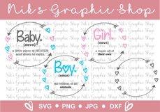 baby svg bundle, boy svg, girl svg, heart wreath bundle Product Image 4