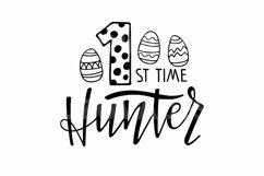 1st time Hunter SVG. Happy Easter SVG. Easter Egg Hunting Product Image 2