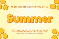 5 Summer Text Effect Graphic Styles Vector Product Image 4