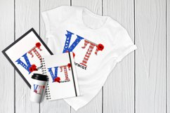 State abbreviation. USA sublimation. Vermont Product Image 4
