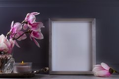 Gray room interior decor with magnolia flowers Product Image 1
