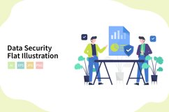 Data Security Flat Vector Illustration Product Image 1