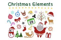 Procreate Brush stamp, Christmas Element Stamps Product Image 4