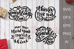 New Year SVG. Lettering. New Year quotes Product Image 1