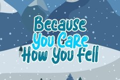 Blue snow | Funny Typeface Product Image 6