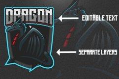 Dragon mascot gaming logo Product Image 2