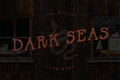 Dark Seas | A Salty Font Family Product Image 1
