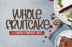 Whole Fruitcake - A Silly Marker Font Product Image 1