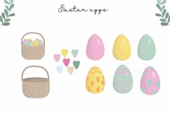 Easter clipart, easter bunny PNG, easter eggs, easter PNG Product Image 4