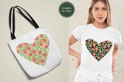 Floral Hearts Set. Valentine Sublimation PNG design Product Image 5