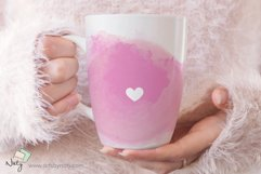 Sublimation heart watercolor elements. Product Image 3