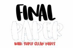 Web Font Final Paper - A Clean Hand Lettered Type Product Image 2