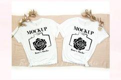 Bella Canvas 3001 Mockup White - Double T-shirt Mockup Product Image 1