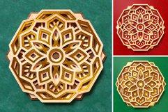 Mandala 3D Layered SVG Cut File - Laser Cutting Product Image 5