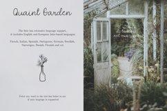 Quaint Garden Floral Font EXTRAS Product Image 6