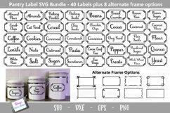Pantry Labels SVG Bundle - 40 Kitchen Labels Product Image 1