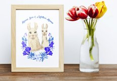 Llama Clipart with red flowers Product Image 5