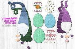 Easter Egg Gnome SVG Glowforge File Laser Cut Files Bundle Product Image 3