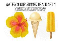 Watercolor Summer Beach Clip Art Set 1 Product Image 3