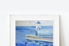 8 oil painting digital seascapes Product Image 5