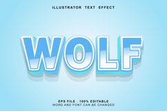 wolf text effect editable Product Image 1