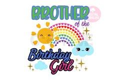 Brother of the Rainbow Birthday Girl svg |Rainbow Birthday Product Image 1