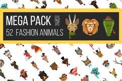 Vector Fashion Animal Icons Big Bundle 52  Product Image 1