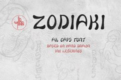Zodiaki font, based on hand drawn letterings, TTF, OTF, SVG Product Image 1