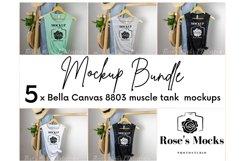 Bella Canvas 8803 Mockup Bundle - Bella Canvas Muscle Tank Product Image 1