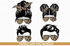 mom life svg-Messy Bun SVG-Family Life Mom Life Kid life svg Product Image 1