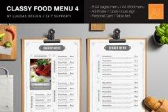 Classy Food Menu Template 4 Product Image 2