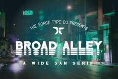 Broad Alley - A Wide San Serif Font !INTRO SALE! Product Image 1