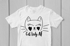 Cat Lady AF - Cute SVG EPS DXF PNG Cutting Files Product Image 2