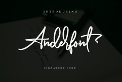 Anderfont - a Signature Font Product Image 1