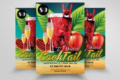 10 Summer Beach Cocktail Party Flyers Bundle Product Image 5