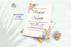 Wedding Invitation Set #1 Watercolor Floral Flower Style Product Image 2